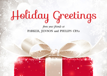 Your Name in Lights... Front Imprint Holiday Cards