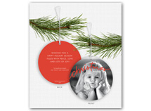 """christmas wishes"" Photo Ornament Holiday Card"